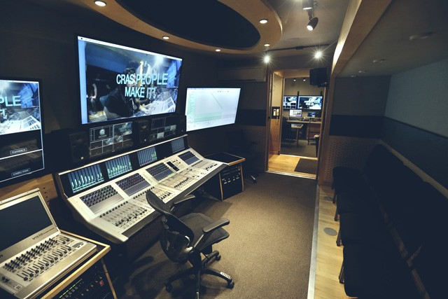 Inside the Mobile Broadcast Unit (MBU) at CRAS Gilbert campus.
